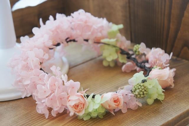 花冠 ウエディング プリザーブドフラワー 札幌
