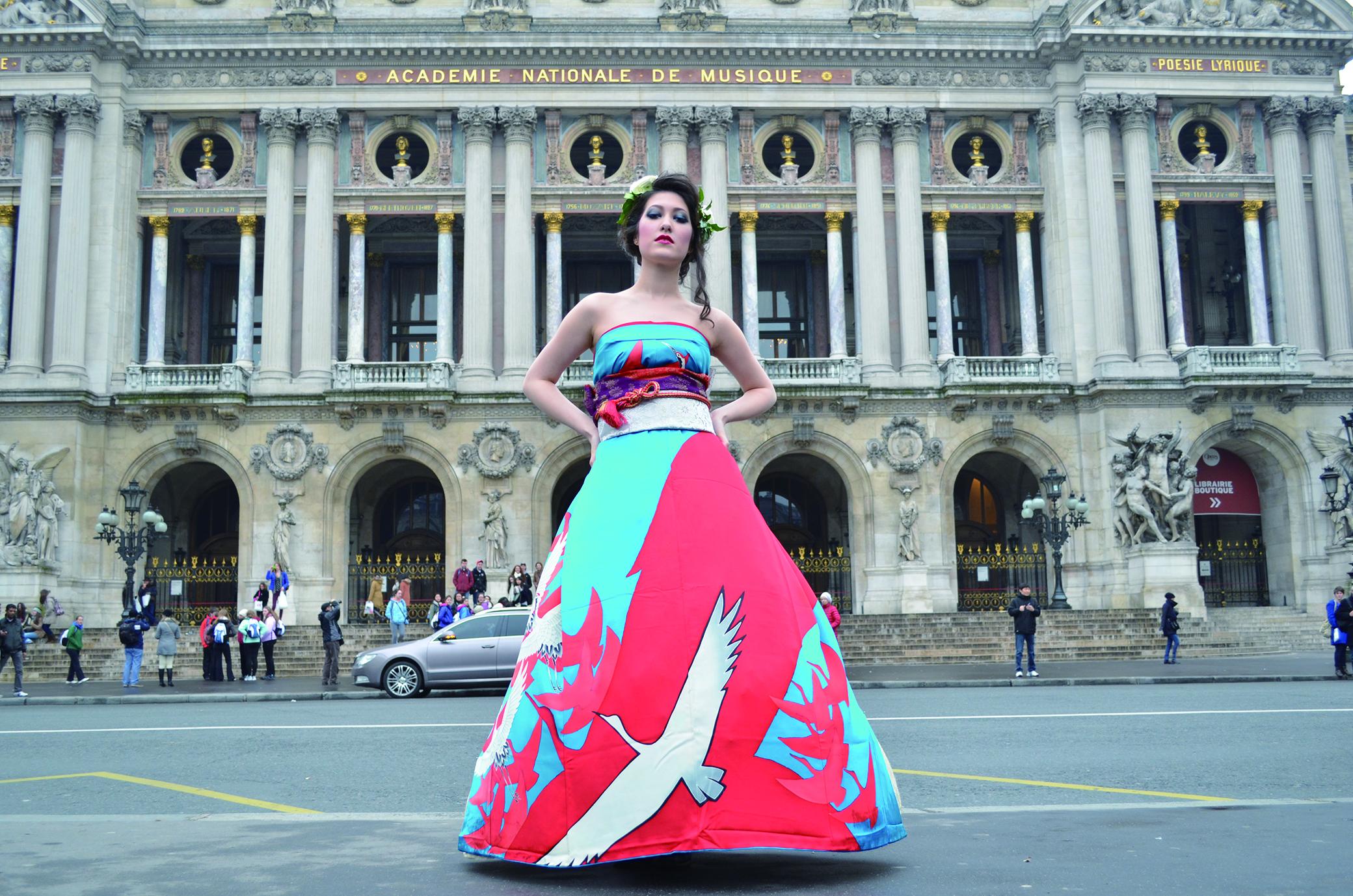 オリエンタル和装 着物 ドレス パリ