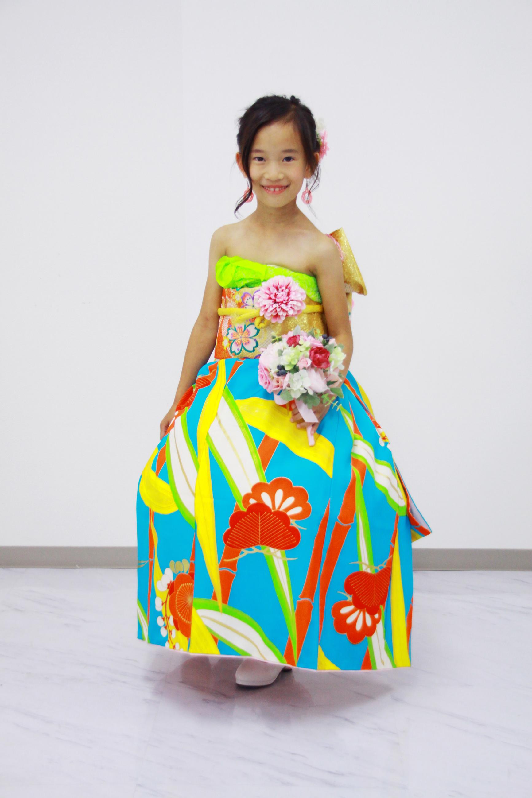 7歳のお子様 オリエンタル和装