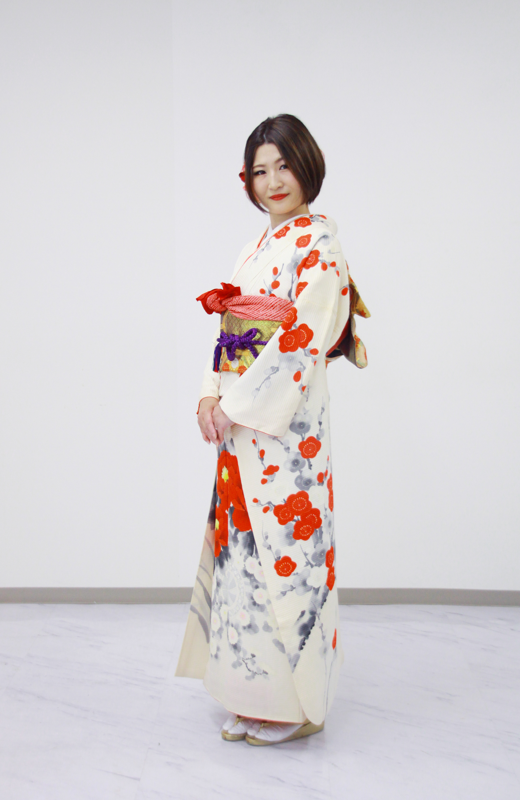 振袖がドレスに変身 札幌写真撮影体験会